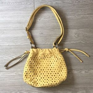 Yellow Leather Fossil Bag